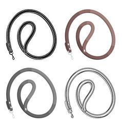 leash for animalspet shop single icon in black vector image