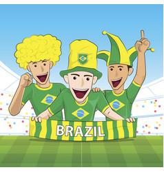 brazil sport fan vector image