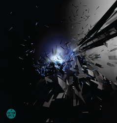 Explosion in space background vector