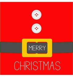 Santa claus coat golden belt merry christmas vector