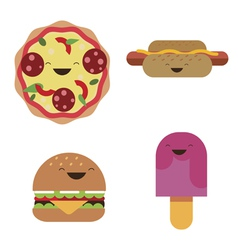 Fast food characters vector