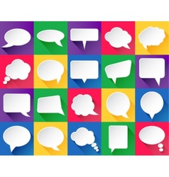 20 speech bubbles with shadows vector