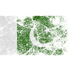 Flag of pakistan with old texture vector