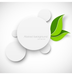 Paper white circle with leaves vector