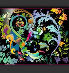 hallucinogenic garden vector image
