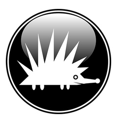 Hedgehog symbol button vector