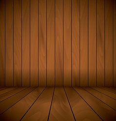 Wooden laqured stage wall and flor background vector