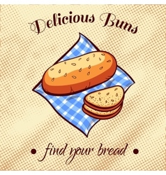 Bread on a napkin 11 vector