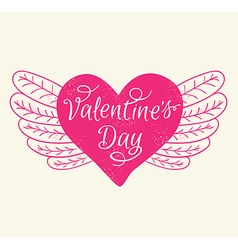 Romance valentines day greeting card vector