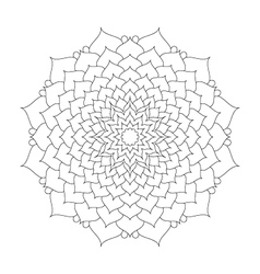 Adult coloring book pattern mandala lotus flower vector