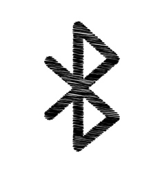 Black icon with scribble effect vector