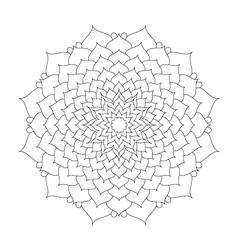 Adult coloring book pattern mandala lotus flower vector