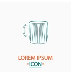 beer mug computer symbol vector image vector image