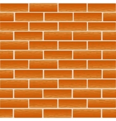 Brickwork of ordinary red bricks vector image vector image