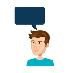 businessman character avatar with speech bubble vector image