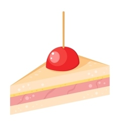 Cake sweet isolated vector