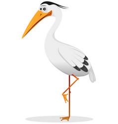 Cartoon heron bird vector