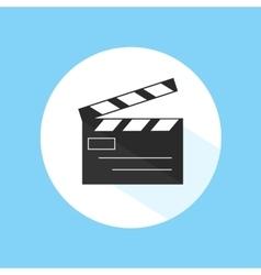 Clapboard video cinema movie studio equipment pro vector