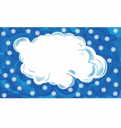 cloud with snowflakes vector image vector image