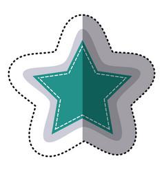 Color sticker star shape frame callout dialogue vector