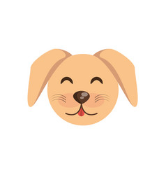 Cute face dog animal cheerful vector