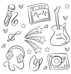 Doodle of music art vector
