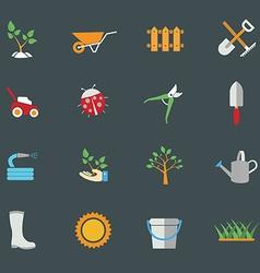 Environmental activities gardening icons set vector