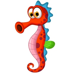 funny seahorses cartoon vector image vector image