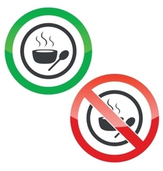 Hot soup permission signs vector image vector image