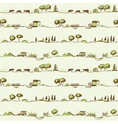 landscape pattern vector image vector image