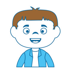 little boy disguised as a frankenstein vector image