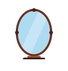Mirror flat icon vector