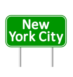 New york city green road sign vector