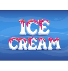 Ogo icecream summer candy vector