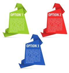 Options Paper Origami vector image vector image