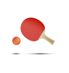 ping pong tennis table racket icon ball isolated vector image vector image