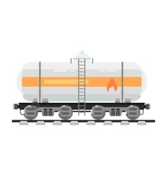 Railway tank isolated on white background vector image vector image
