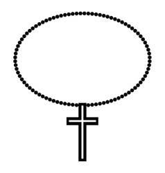 Religion cross icon vector
