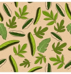 Seamless texture with leaves vector image vector image