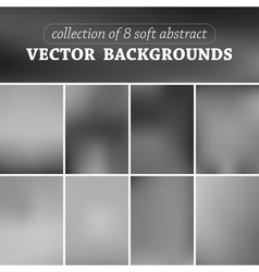 Set of eight blurred background vector image vector image
