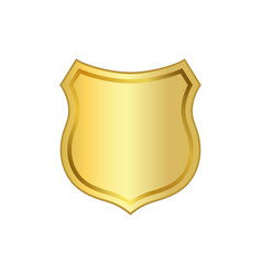shield gold icon shape emblem vector image
