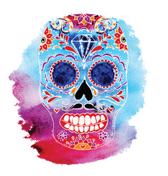 Skull color t-shirt graphics vector