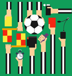 soccer referee design flat vector image vector image