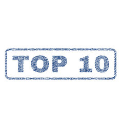 Top 10 textile stamp vector