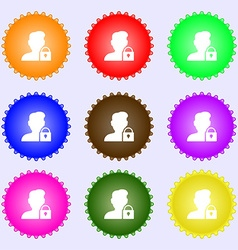 user is blocked icon sign Big set of colorful vector image vector image
