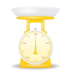 yellow color weight scale market isolate on white vector image vector image