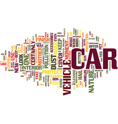 you can protect your car from mother nature text vector image