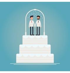 Gay wedding cake vector