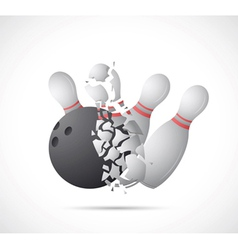 Bowling game cartoon vector