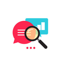 Statistics research icon  flat style vector